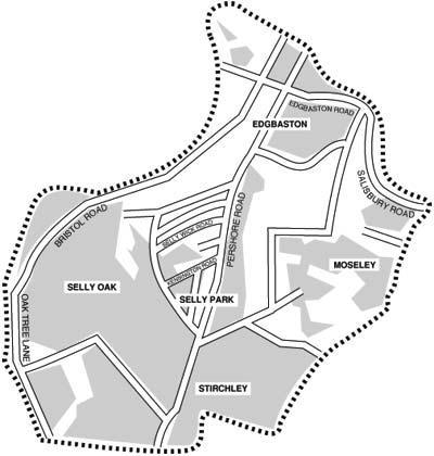 map of the practice area